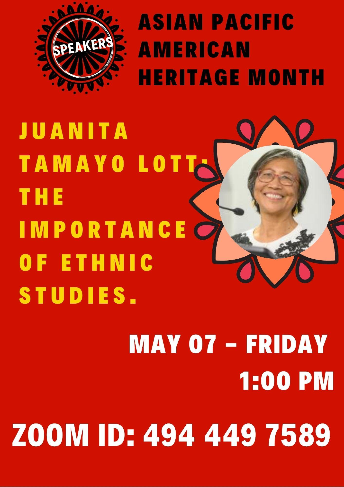 Speaker: Juanita Tamayo Lott
