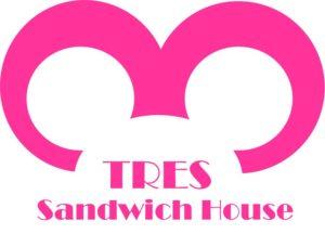 tres sandwich house logo